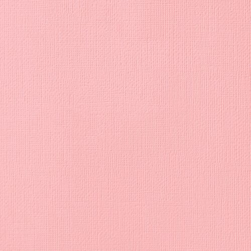 Cardstock - Papel de Scrapbook 30,5x30,5 cm - Rosa bebê - Rose Fard - American Crafts
