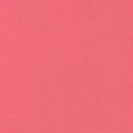 Cardstock - Papel de Scrapbook 30,5x30,5 cm - Grapefruit  - American Crafts