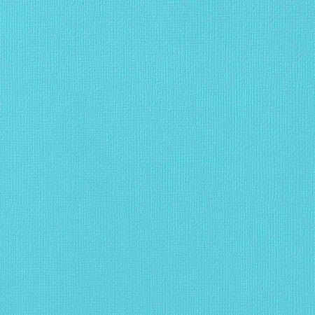 Cardstock - Papel de Scrapbook 30,5x30,5 cm - Azul Turquesa - American Crafts