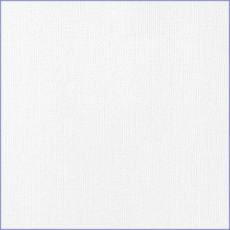 Cardstock - Papel de Scrapbook 30,5x30,5 cm - Branco - American Crafts