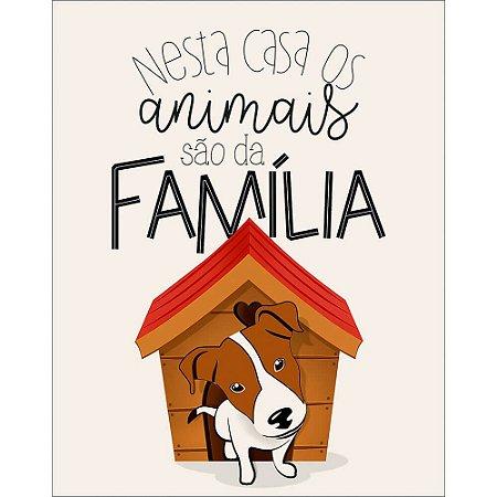 Placa decorativa em MDF - Animais - Cachorrinho - DHPM-481 - Litoarte