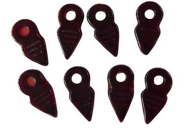 Kit 8 apliques setas vinho vidro - Importado