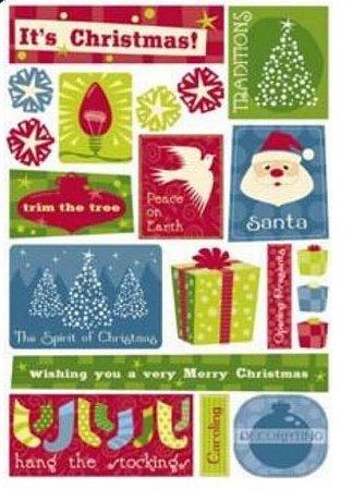 Adesivos Natal, Christmas Fun, Karen Foster