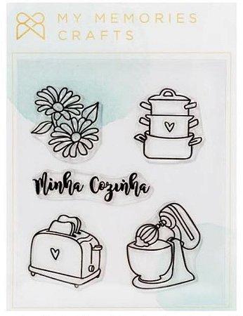 Cartela de carimbos de silicone My Kitchen - Minha Cozinha - My Memories e Crafts