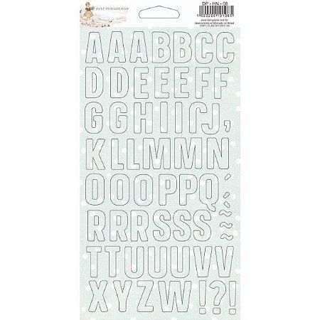 Chipboard adesivado de Alfabeto -  História de Natal - Dany Peres