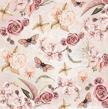 Papel de scrapbook Soneto das flores - Poesia - Dany Peres