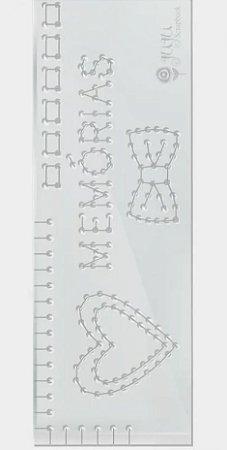 Régua de costura Memórias - Família para sempre - Juju Scrapbook