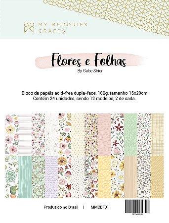 Bloco Flores e Folhas - My Memories Crafts