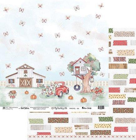 Papel de scrapbok My Country Life 6 - My Memories Crafts