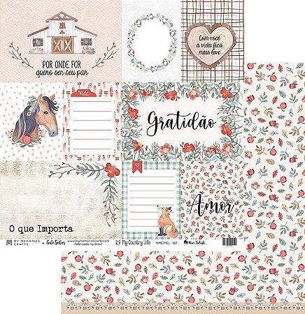 Papel de scrapbok My Country Life 2 - My Memories Crafts
