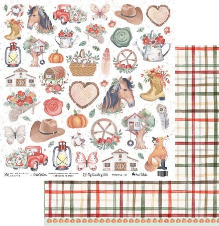 Papel de scrapbok My Country Life 1 - My Memories Crafts