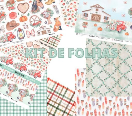 Kit de papéis de scrapbok My Country Life - My Memories Crafts