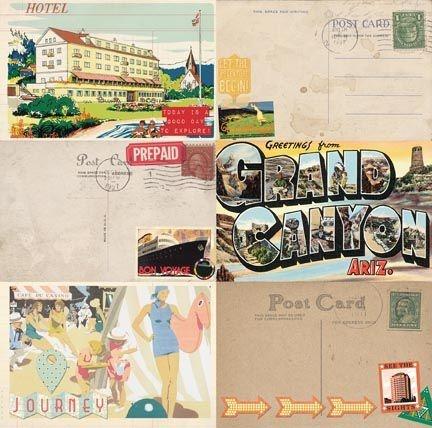 Papel Scrapbook - Souvenir - Sightseeing  - Bo Bunny