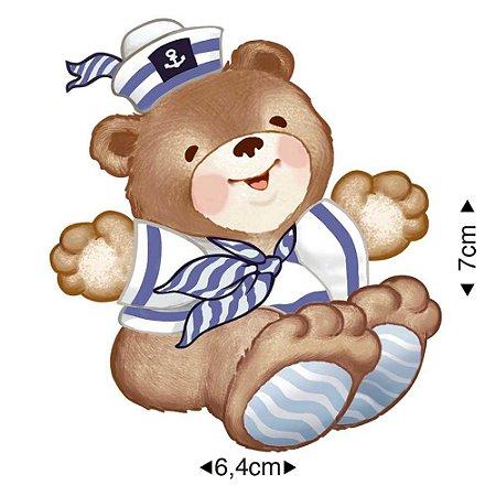 Aplique em MDF - Ursinho marinheiro -  APM8-057 - Litoarte