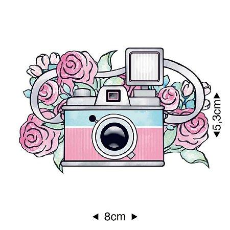 Aplique em MDF - Maquinas Flores -   APM8-922 - Litoarte