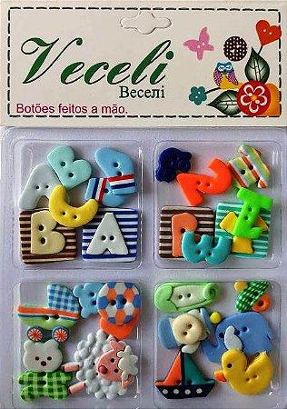 Botões Baby Boy - Bebê Menino - Veceli