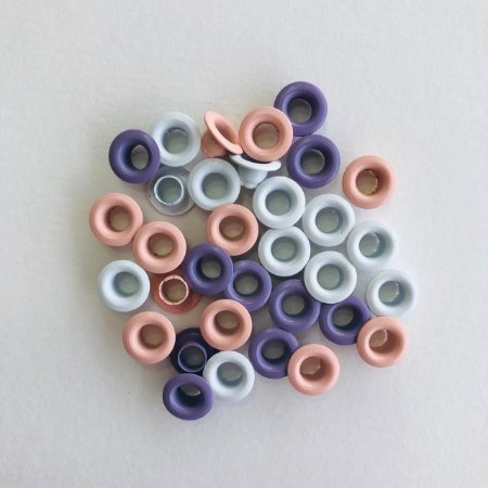 "Kit c/30 ilhoses - tons coloridos candy - tamanho 3/16 """