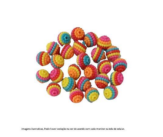 Kit apliques micança amora - 10 a 12 mm craquelada (colorida)