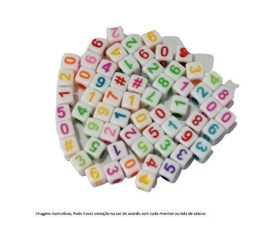Kit números - Miçanga colorida  5mm - quadrada - 10 gramas