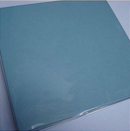 Álbum para scrapbook 30x30 azul bebê - Oficina do Papel