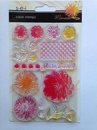 Cartela de carimbos de silicone Mimosa - SEI