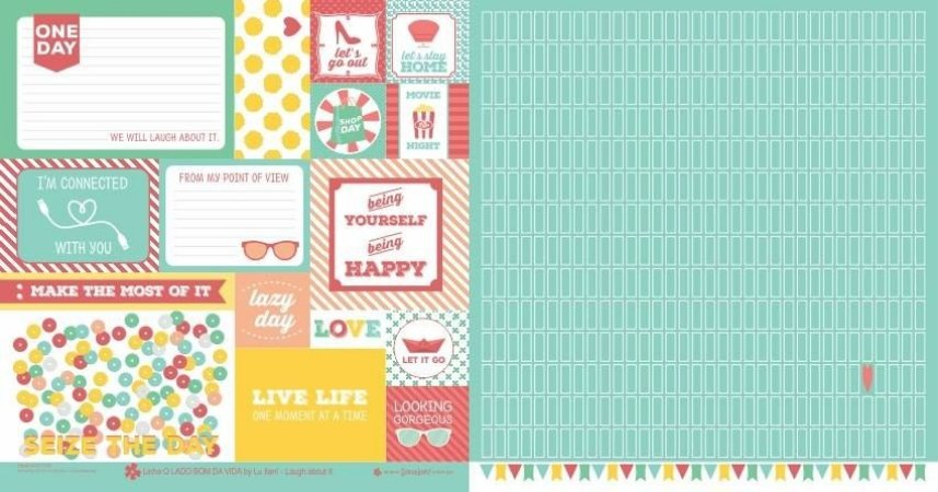 Papel para scrapbook - 30x30 O Lado Bom da Vida - Laugh about it - Scrapdiary