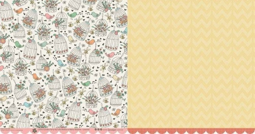 Papel para scrapbook - 30x30 Garden Party - Lisianto - Scrapdiary
