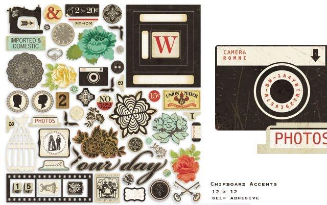 Adesivos chipboard 30x30 Portrait - Crate Paper
