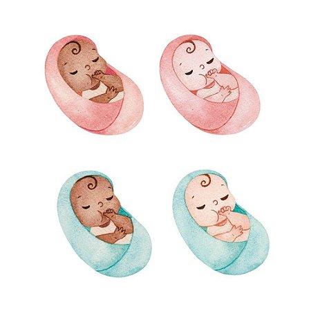 Aplique MDF Bebês APM3-289 Mães - Litoarte