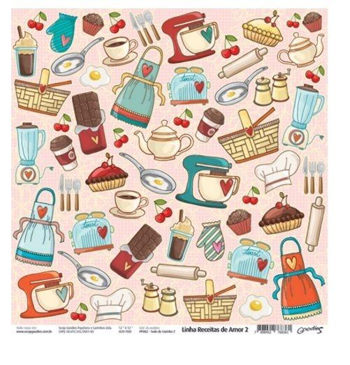 Papel para scrapbook Tudo de Cozinha 2 - Goodies