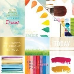 Papel Scrapbook - Dream in Color Storyteller Card Sheet II - Webster Pages