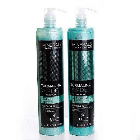 Kit Shampoo + Condicionador Minerals Turmalina Verde 2x1L Cabelos Mistos ou Oleosos