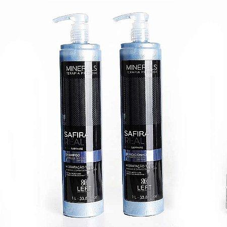 Kit Shampoo + Condicionador Minerals Safira Real 2x1L Cabelos Secos ou Ressecados