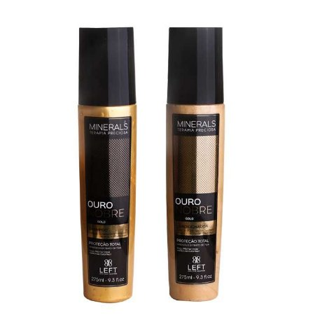 Kit Shampoo + Condicionador Minerals Ouro Nobre 2x275ml Cabelos com Química