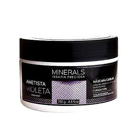 Máscara Minerals Ametista Violeta 250g Cabelos Loiros ou com Mechas