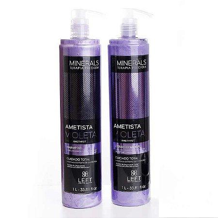 Kit Shampoo + Condicionador Minerals Ametista Violeta 2x1L Cabelos Loiros ou com Mechas
