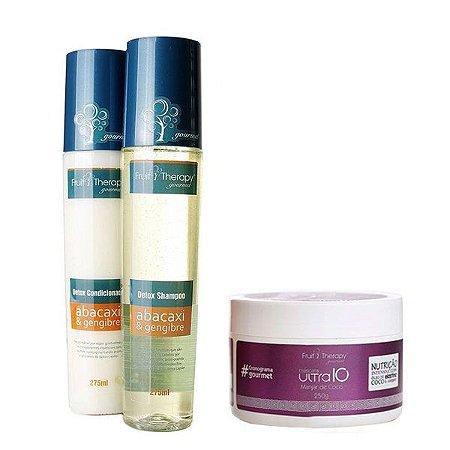Kit Detox Shampoo e Condicionador 2x275ml +  Nutrição Manjar de Coco 250g