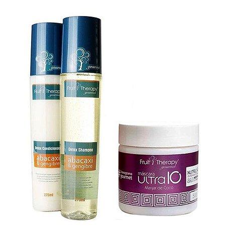 Kit Detox Shampoo e Condicionador 2x275ml +  Nutrição Manjar de Coco 500g