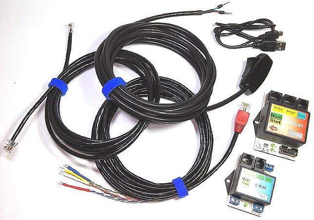 Kit - Contador de voltas USB óptico com comando / modular