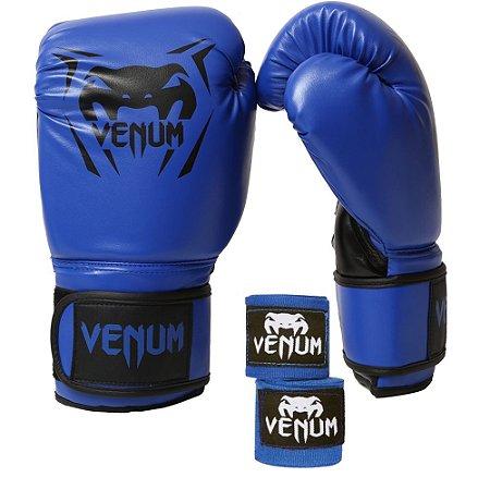 Kit Boxe Venum New Contender - AZUL