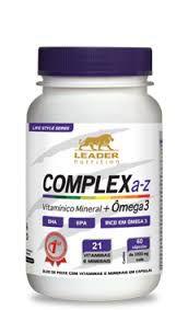 Complex A-Z com Ômega 3 (60caps) Leader Nutrition