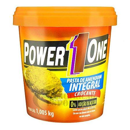 Pasta de Amendoim Integral Crocante (1kg) Power One