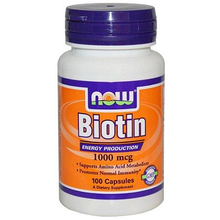 Biotina 1000mcg (100 cápsulas) Now Sports