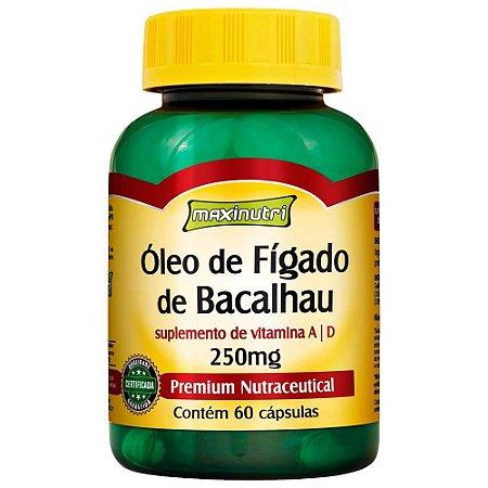 Óleo de Fígado de Bacalhau 250mg (60 cápsulas) MaxiNutri