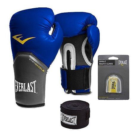 Kit Boxe e Muay Thai Pro Style Everlast Azul - FH Brasil Suplementos ... fcee8412191e1