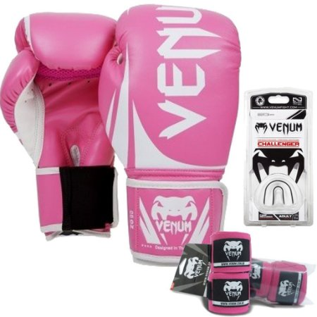 Kit Boxe Venum Challenger - ROSA