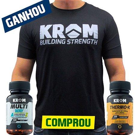 Comprou Multi Way + Thermo-K Ganhou Camiseta Dry Fit Krom Suplementos