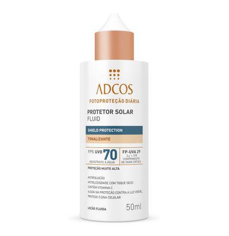 ADCOS PROTETOR SOLAR FLUID SHIELD PROTECTION FPS70 COR 50ML