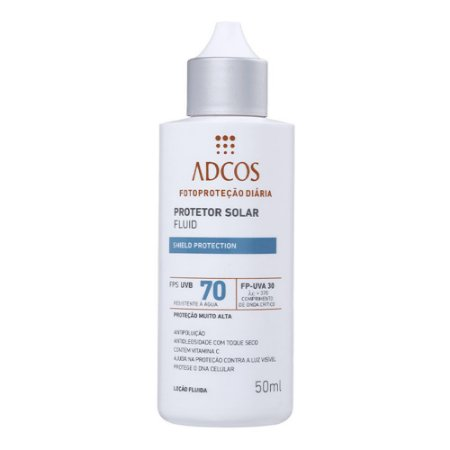 ADCOS PROTETOR SOLAR FLUID SHIELD PROTECTION FPS70 50ML INCOLOR