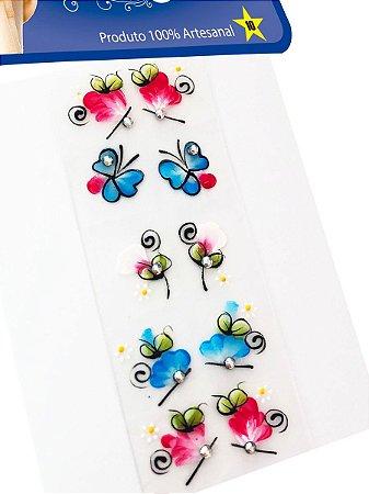 Kit 100 Adesivos Para Unhas Strass Nail, 100% Artesanal